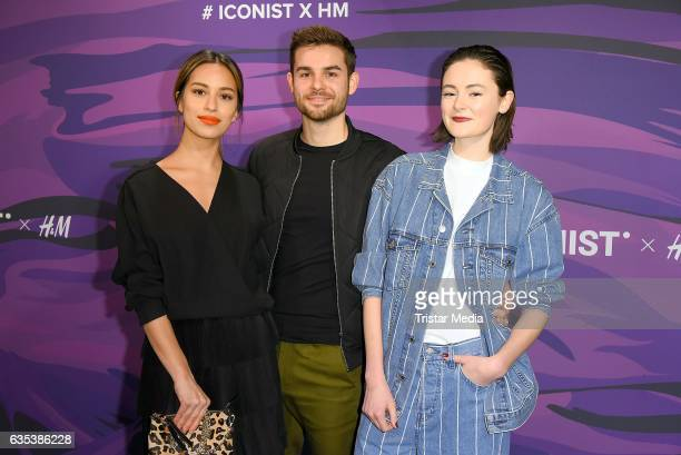 Gizem Emre Lucas Reiber and Lea van Acken attend the Young ICONs Award in cooperation with HM and Tiffany's Co at BRLO Brwhouse on February 14 2017...
