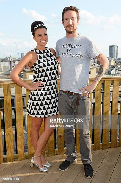 Gizzi Erskine and Frank Turner attend the summer launch party of the OnBlackheath Festival in partnership with John Lewis on the John Lewis Roof...