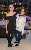 Gizzi Erskine and Jaime Winstone attend the launch of Broadgate Circle London's new dining hub on June 9 2015 in London England