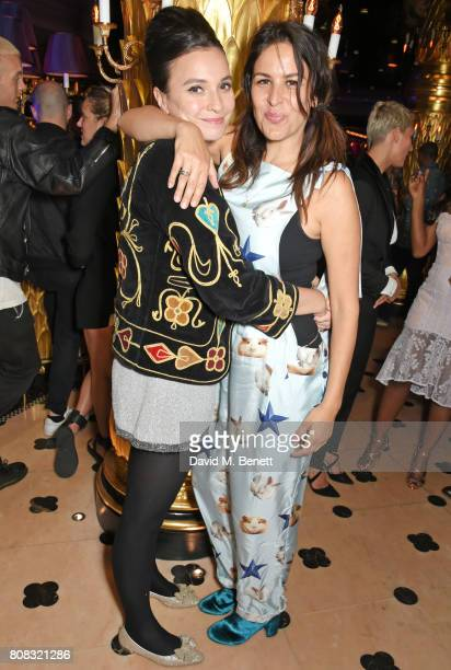 Gizzi Erskine and Lliana Bird attend the Rockins party to celebrate the Rockins Selfridges PopUp Shop at Park Chinois supported by Ciroc on July 4...