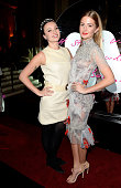 Gizzi Erskine and Millie Mackintosh attend The Warner Music Brit Party 2015 at Freemasons Hall on February 25 2015 in London England
