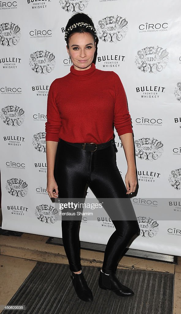 Gizzi Erskine arrives for the 'Steam and Rye' resturent launch party on November 19, 2013 in London, United Kingdom.