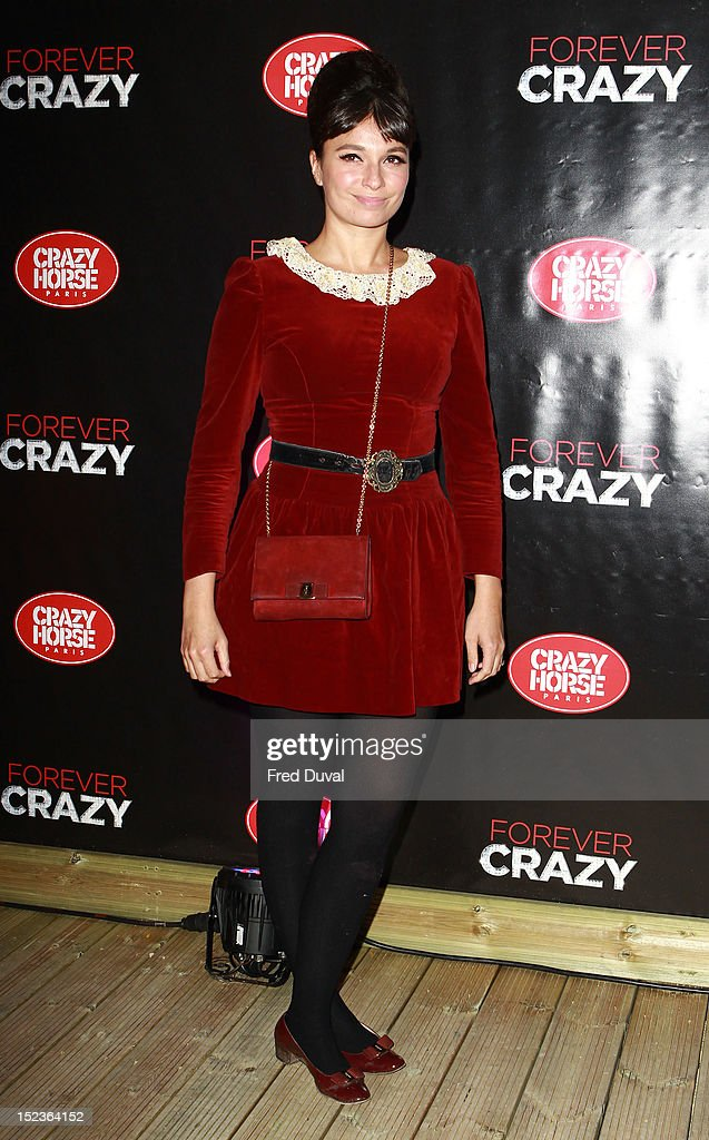 Gizzi Erskine attends as Crazy Horse bring their renowned cabaret show from Paris to London at The Crazy Horse on September 19, 2012 in London, England.