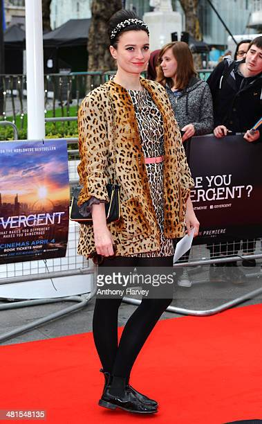 Gizzi Erskine attends the European premiere of 'Divergent' at Odeon Leicester Square on March 30 2014 in London England