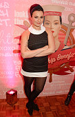 Gizzi Erskine attends the launch of 'Good Ship Benefit' a beauty and entertainment destination opening on the River Thames and run by Benefit...