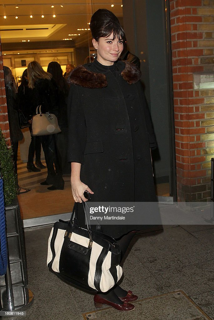 Gizzi Erskine attends the Smythson of Bond Street afternoon tea at Smythson Of Bond Street, Sloane Street Store on February 6, 2013 in London, England.