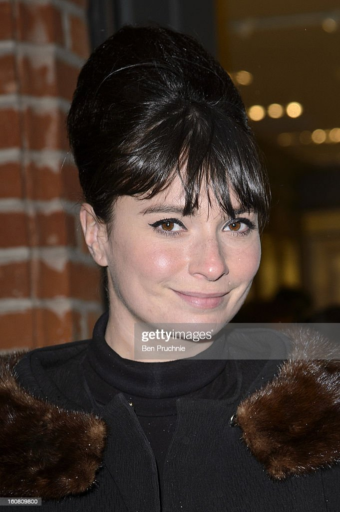 Gizzi Erskine attends the Smythson of Bond Street's afternoon tea party, celebrating the opening of their new Sloane Street store, on February 6, 2013 in London, England.