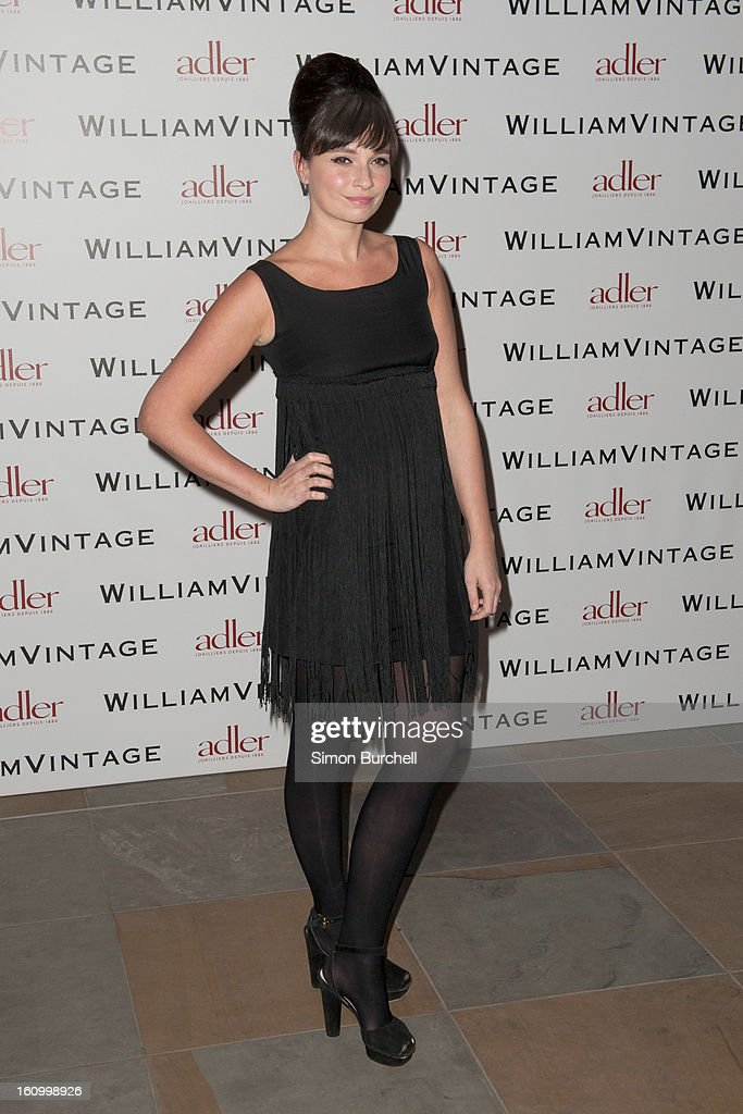 Gizzi Erskine attends the WilliamVintage Dinner Sponsored By Adler at St Pancras Renaissance Hotel on February 8, 2013 in London, England.