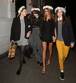 Gizzi Erskine Lilah Parsons and Millie Mackintosh attending a private dinner to celebrate the launch of the Millie Mackintosh Spring/Summer 2015...