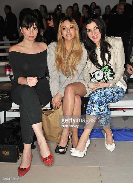 Gizzi Erskine Zara Martin and Grace Woodward seen on the front row at the Mark Fast Autumn/Winter 2012 show at London Fashion Week at Somerset House...