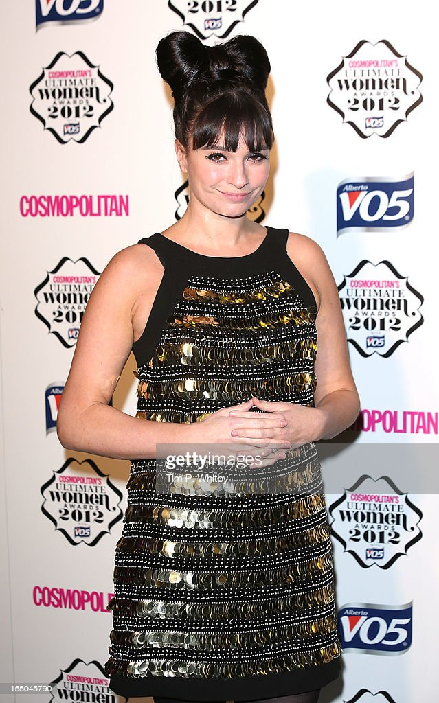 Gizzie Erskine attends the Cosmopolitan Ultimate Woman of the Year awards at Victoria & Albert Museum on October 30, 2012 in London, England.