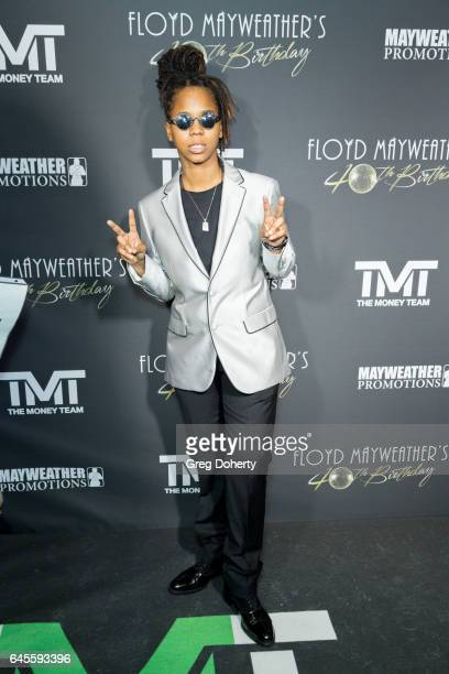Gizzle attends Floyd Mayweather's 40th Birthday Celebration on February 25 2017 in Los Angeles California