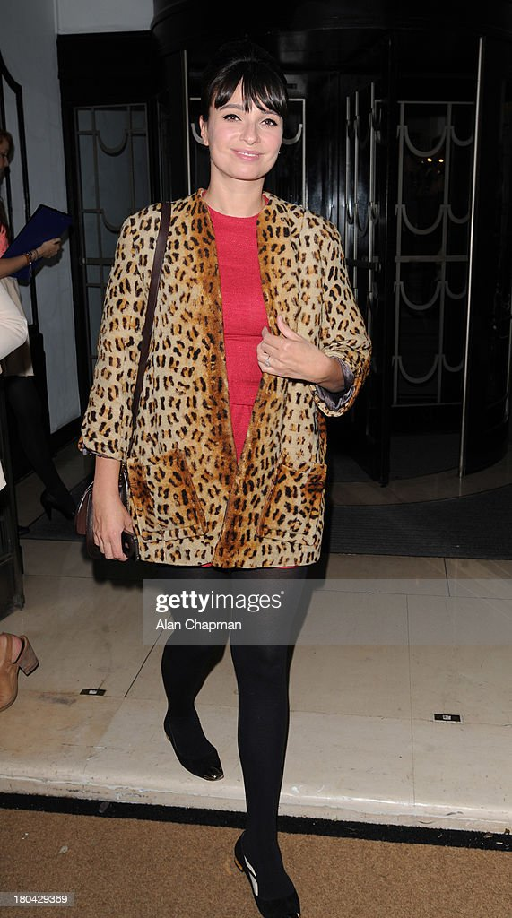 Gizzy Erskine sighting at the Fearne Cotton Fashion Show, Claridges on September 12, 2013 in London, England.