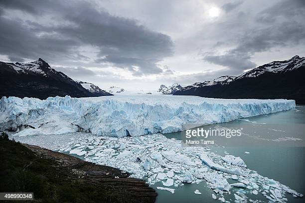 Glacial melting ice floats in Los Glaciares National Park part of the Southern Patagonian Ice Field the third largest ice field in the world on...