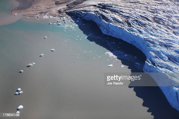 A glacial toe is seen on July 15 2013 near Ilulissat Greenland As the sea levels around the globe rise researchers affiliated with the National...