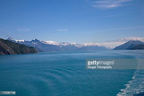Glacier Bay Alaska with Calm Waters and Snow Covered Mountains