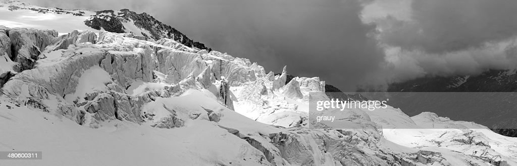 Glacier du Tour in the French Alps : Stock Photo