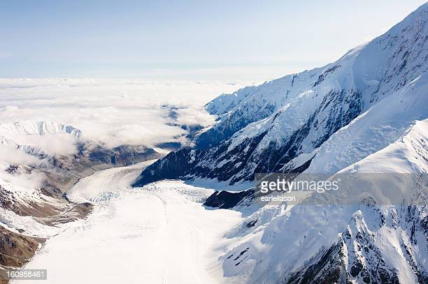 Glacier flow at Mt. McKinley