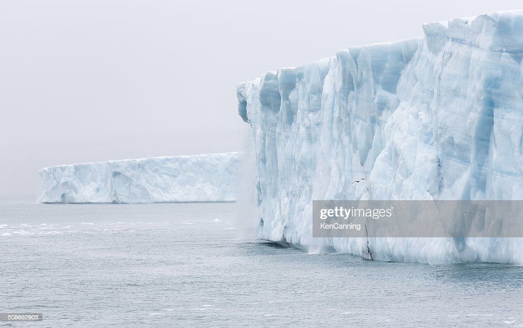 Glacier Ice Wall : Stock Photo