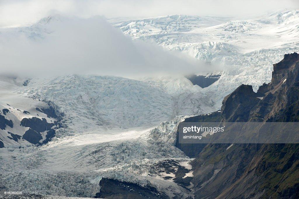 Glaciar en Islandia : Foto de stock