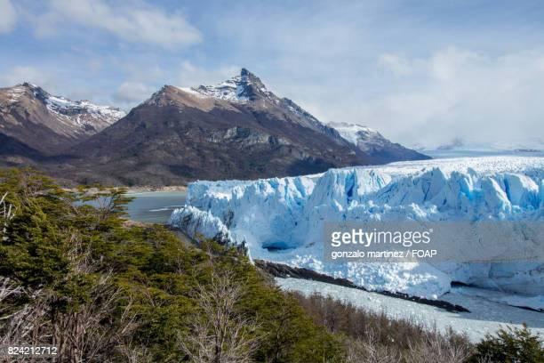 Glacier near andes mountains