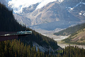 The glacier skywalk on the Icefields Parkway, Alberta, Canada.