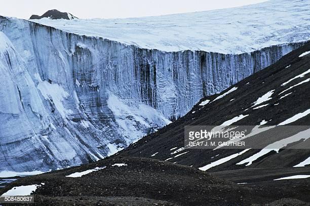 Glacier wall Greenland Denmark