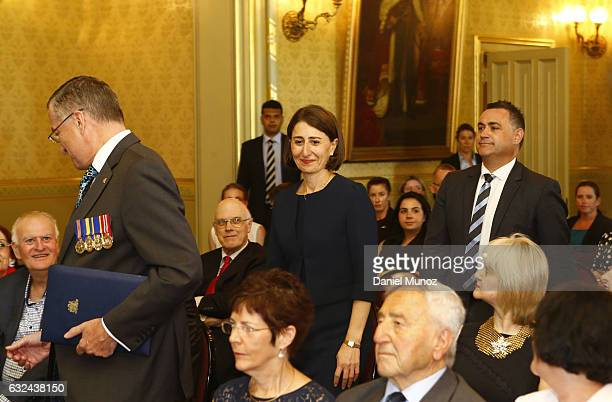 Gladys Berejiklian arrives for her sworn in ceremony as NSW Premier at the NSW Governor House on January 23 2017 in Sydney Australia Berejiklian...