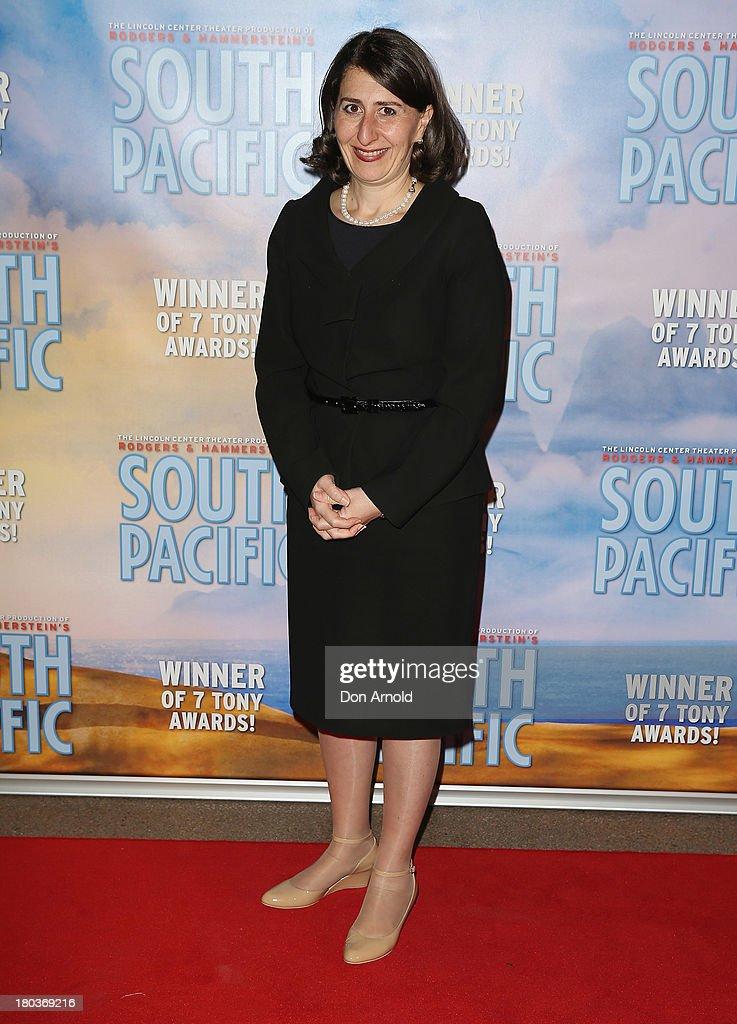 Gladys Berejiklian arrives at Opera Australia's 'South Pacific' opening night at the Sydney Opera House on September 12, 2013 in Sydney, Australia.