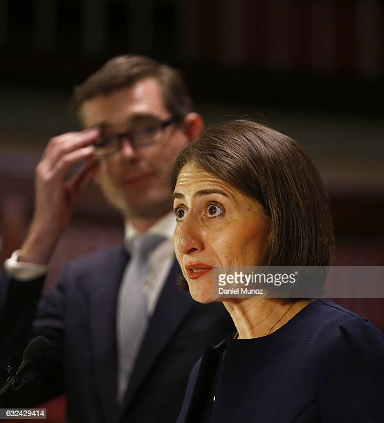 Gladys Berejiklian during a press conference after being elected as the Leader of the NSW Liberal Party on January 23 2017 in Sydney Australia...