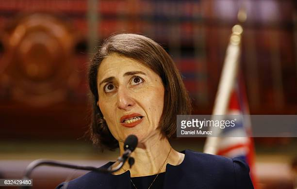 Gladys Berejiklian during a press conference after being elected as the Leader of Liberal Party on January 23 2017 in Sydney Australia Berejiklian...
