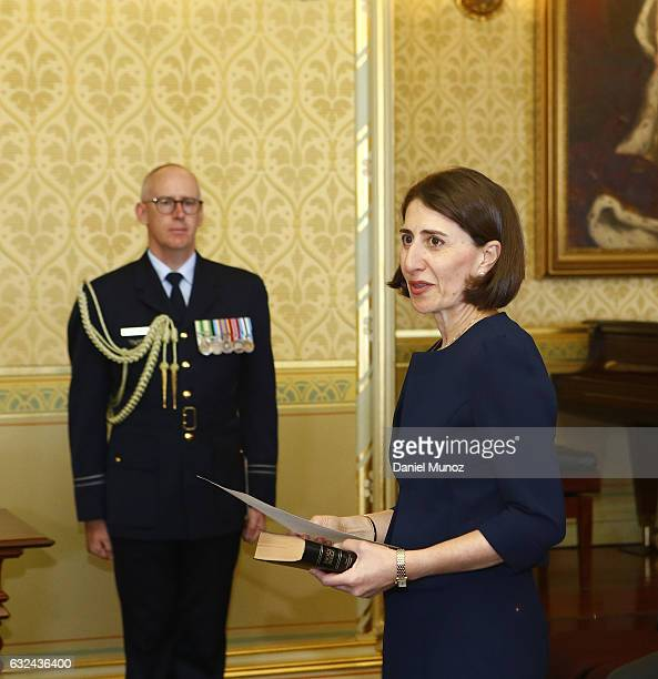 Gladys Berejiklian is sworn in as NSW Premier on January 23 2017 in Sydney Australia Berejiklian sworn in as the NSW 45th Premier on Monday
