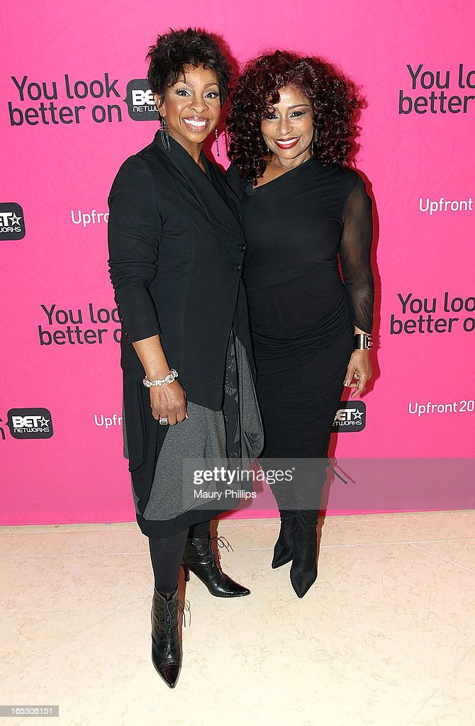 Gladys Knight and Chaka Khan attend BET Networks 2013 Los Angeles Upfront at Montage Beverly Hills on April 2, 2013 in Beverly Hills, California.