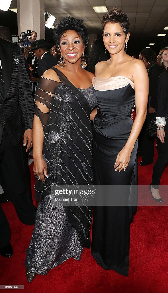 Gladys Knight (L) and Halle Berry arrive at the 44th NAACP Image Awards held at The Shrine Auditorium on February 1, 2013 in Los Angeles, California.