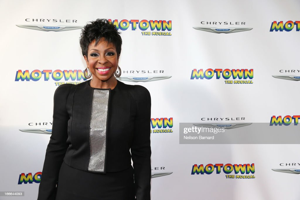<a gi-track='captionPersonalityLinkClicked' href=/galleries/search?phrase=Gladys+Knight&family=editorial&specificpeople=169894 ng-click='$event.stopPropagation()'>Gladys Knight</a> attends the Broadway opening night for 'Motown: The Musical' at Lunt-Fontanne Theatre on April 14, 2013 in New York City.