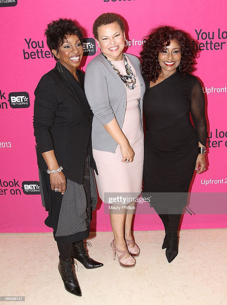Gladys Knight, chairman/CEO of BET Networks Debra Lee and Chaka Khan attend BET Networks 2013 Los Angeles Upfront at Montage Beverly Hills on April 2, 2013 in Beverly Hills, California.