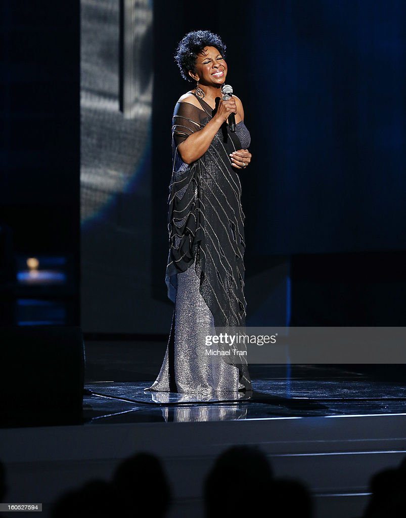 Gladys Knight performs at the 44th NAACP Image Awards - show held at The Shrine Auditorium on February 1, 2013 in Los Angeles, California.