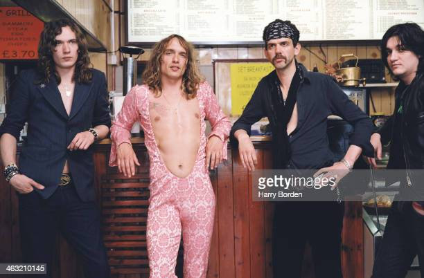 Glam rock band The Darkness are photographed for Trash on May 6 2003 in London England