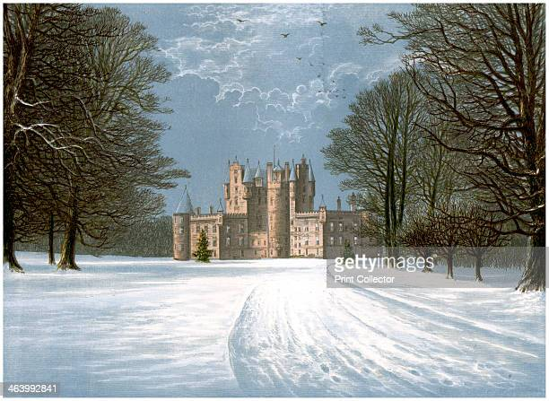Glamis Castle Angus Scotland home of the Earl of Strathmore c1880 Glamis Castle was the family home of Queen Elizabeth the Queen Mother A print from...