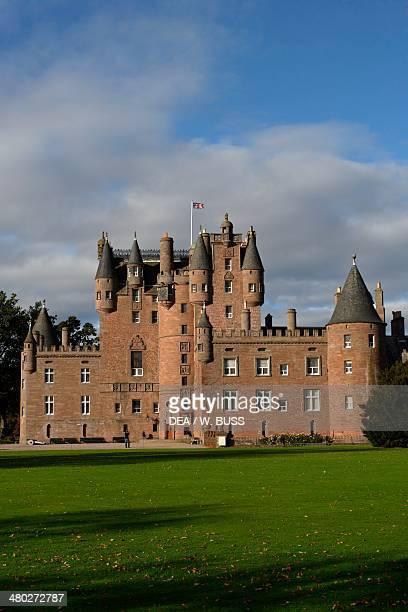 Glamis castle childhood home of Elizabeth BowesLyon wife of King George VI and mother of Queen Elizabeth II Angus Scotland United Kingdom