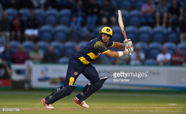 Glamorgan batsman Jacques Rudolph in action during the NatWest T20 Blast match between Glamorgan and Hampshire at SWALEC Stadium on July 7 2017 in...