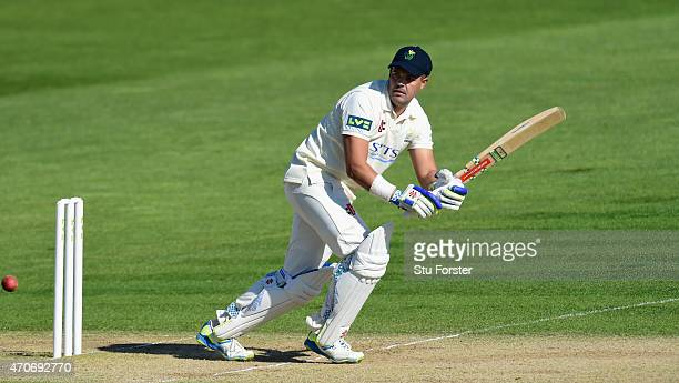 Glamorgan batsman Jacques Rudolph picks up some runs during day four of the LV County Championships Division Two match between Glamorgan and Surrey...
