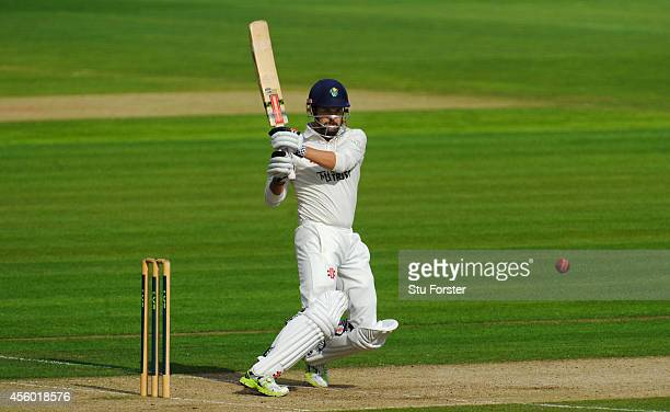 Glamorgan batsman Jacques Rudolph picks up some runs during day two of the LV County Championship Division Two match between Glamorgan and Hampshire...