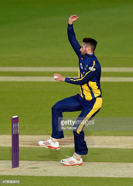 Glamorgan bowler Wayne Parnell in action during the NatWest T20 Blast between Glamorgan and Middlesex at SWALEC Stadium on June 5 2015 in Cardiff...