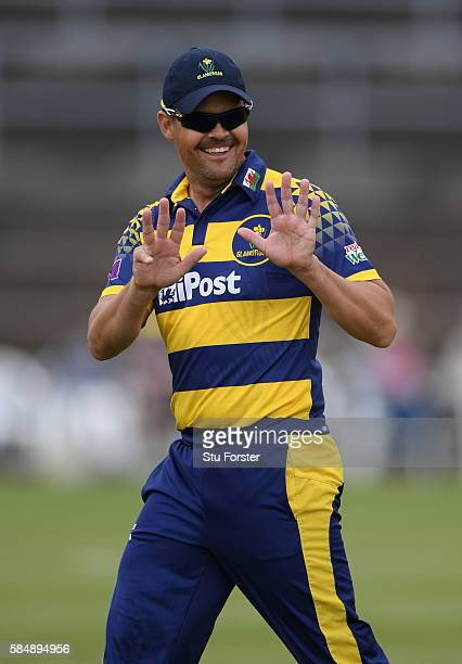 Glamorgan captain Jacques Rudolph reacts during the Royal London OneDay Cup between Glamorgan and Hampshire at St Helens on July 31 2016 in Swansea...