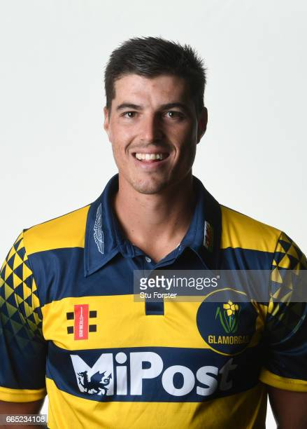 Glamorgan player Marchant de Lange pictured at the photocall ahead of the 2017 Cricket season at Aston Martin on April 6 2017 in St Athan Wales