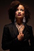 Glamorous African American woman