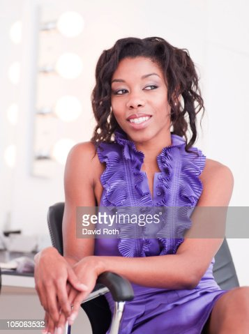 Glamorous African American Woman : Stock Photo