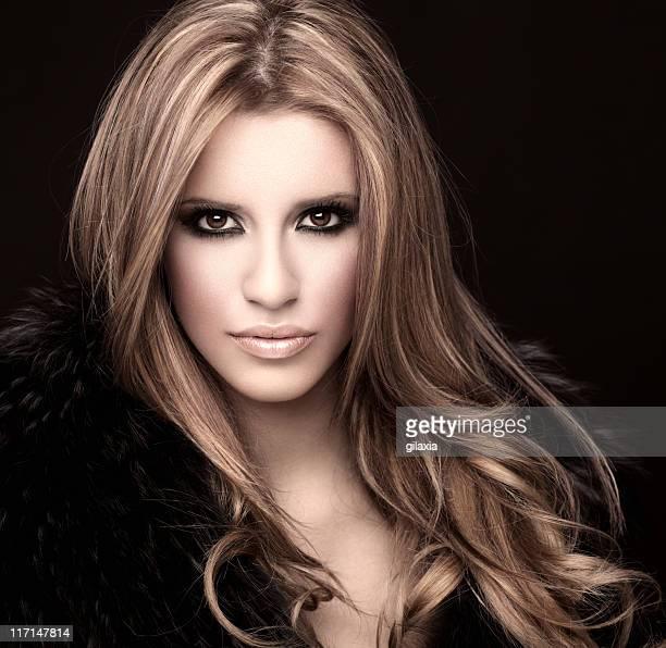 Glamorous blond woman.