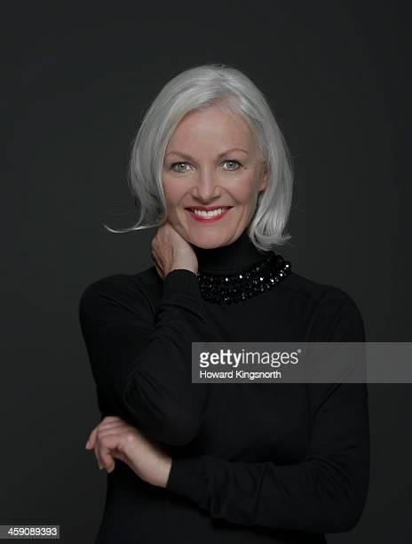 glamorous mature woman, smiling